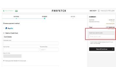 Farfetch Discount Codes Vouchers April 2019